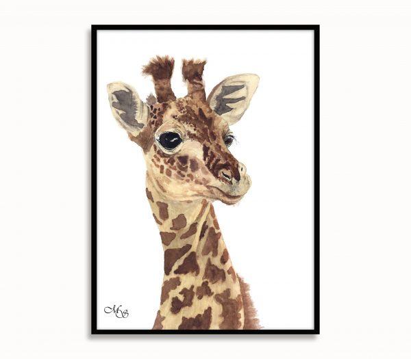 Dieren poster Gerrit de giraf