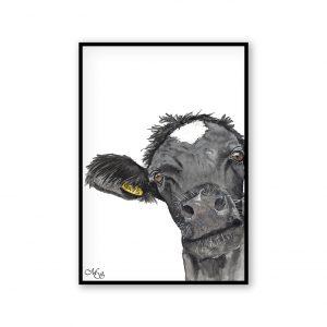 Dieren poster Koert de koe