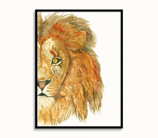 dieren poster Lars de leeuw