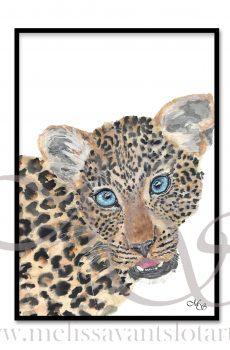 Dieren poster Lowie het luipaard